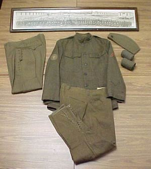 Cleckner Uniform and panoramic photograph