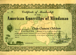Certificate of Membership In The American Guerrilas of Mindano