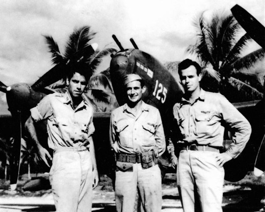 Lieutenant Besby Frank Holmes (middle)