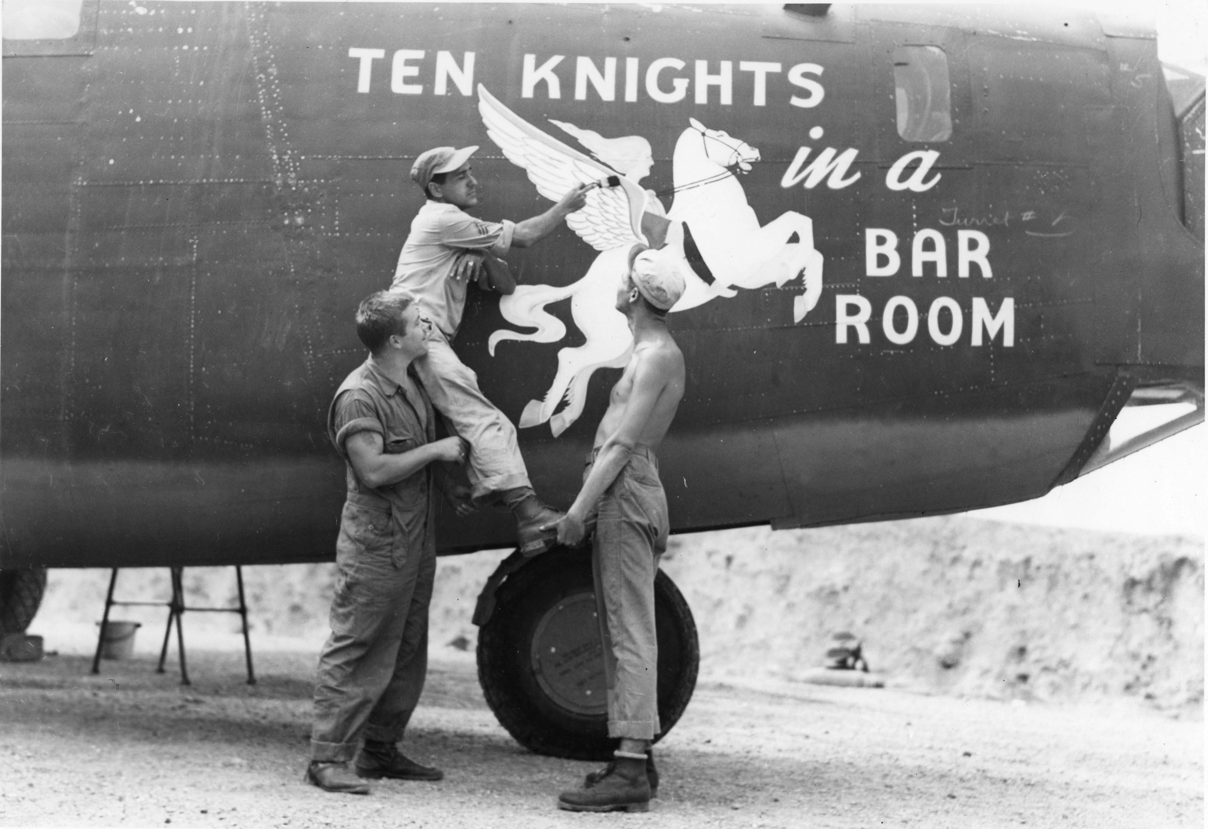 Ten Knights in a Bar Room - B24D - 90th Bomb Group - 321st Squadron - Serial #42-72806 -PH00005472 (Frederick German Collection)