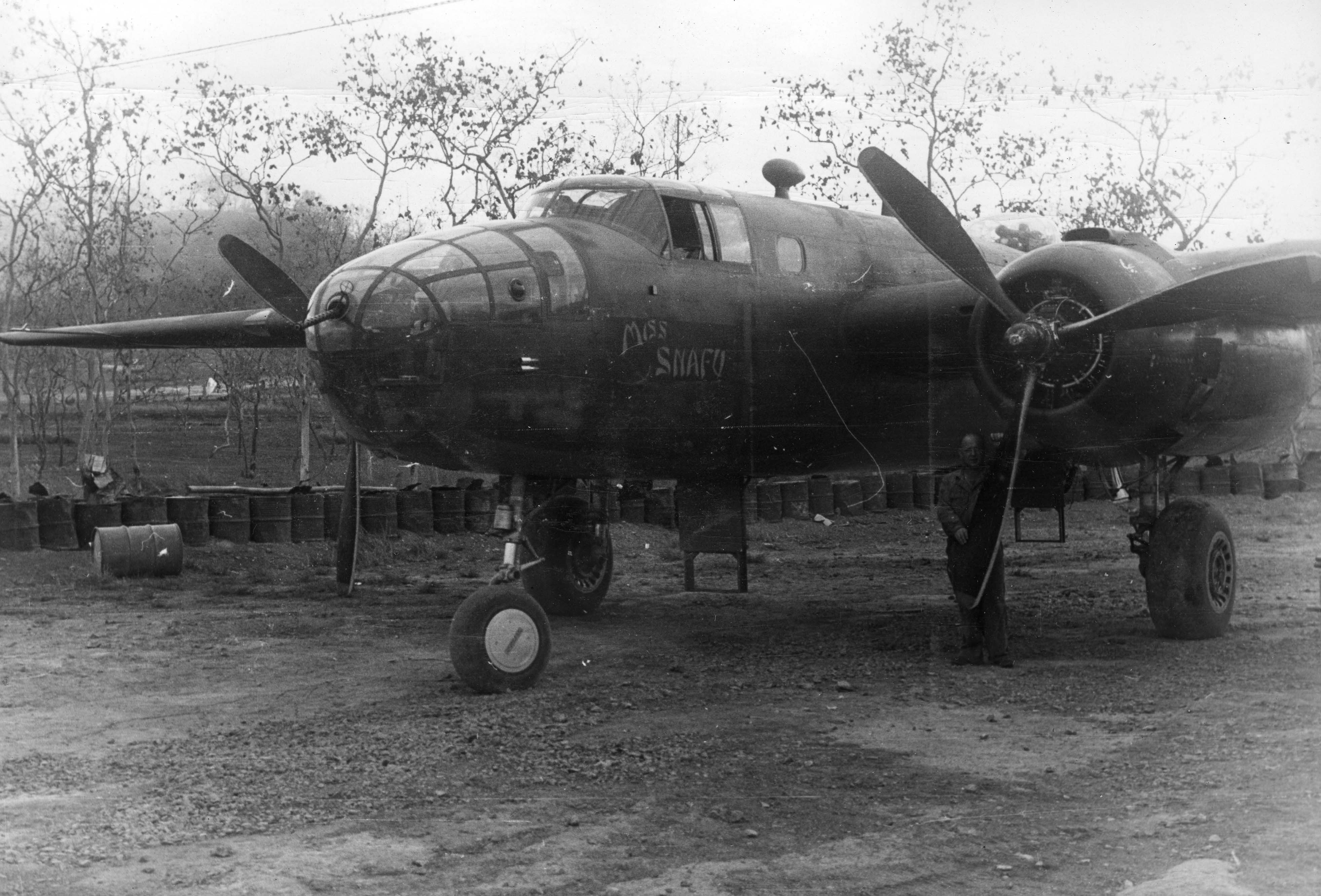 Miss Snafu - B25 - 3rd Bomb Group - 90th Bomb Squadron - Serial #41-12487