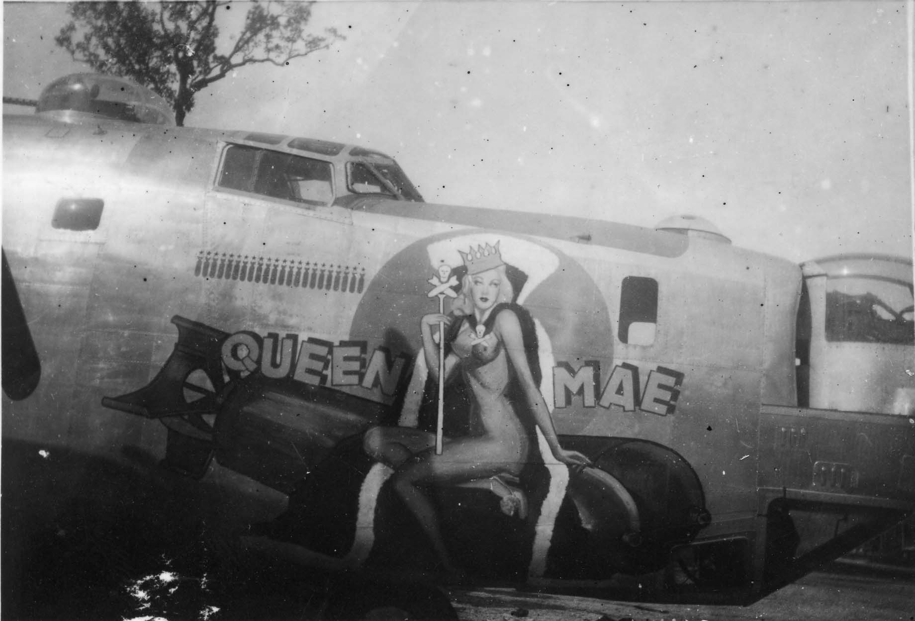 Queen Mae - B24D - 90th Bomb Group - 319th Squadron - Serial #44-40337 - Sharpe 27 (Thomas Sharpe Collection)
