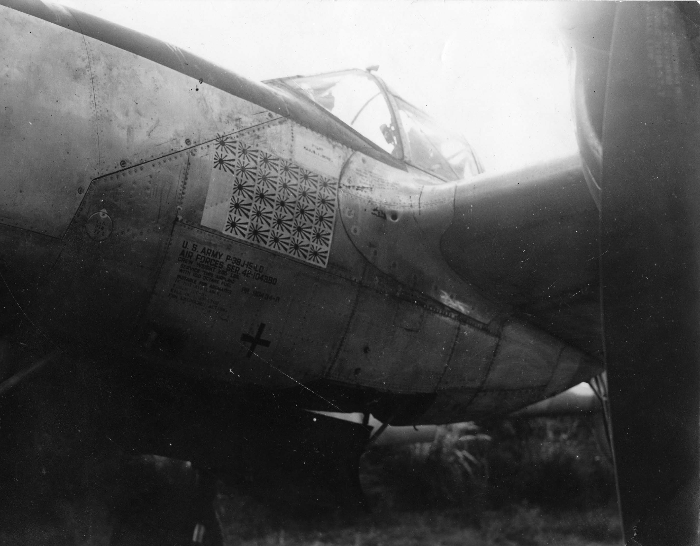 Marge : P-38 : 9th Fighter Squadron : Sharpe 4 (Thomas Sharp Collection)