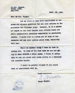 Letter from Sanzo Nosaka, Chief of the Japanese Communist Party, to Lt. Col. Nugent