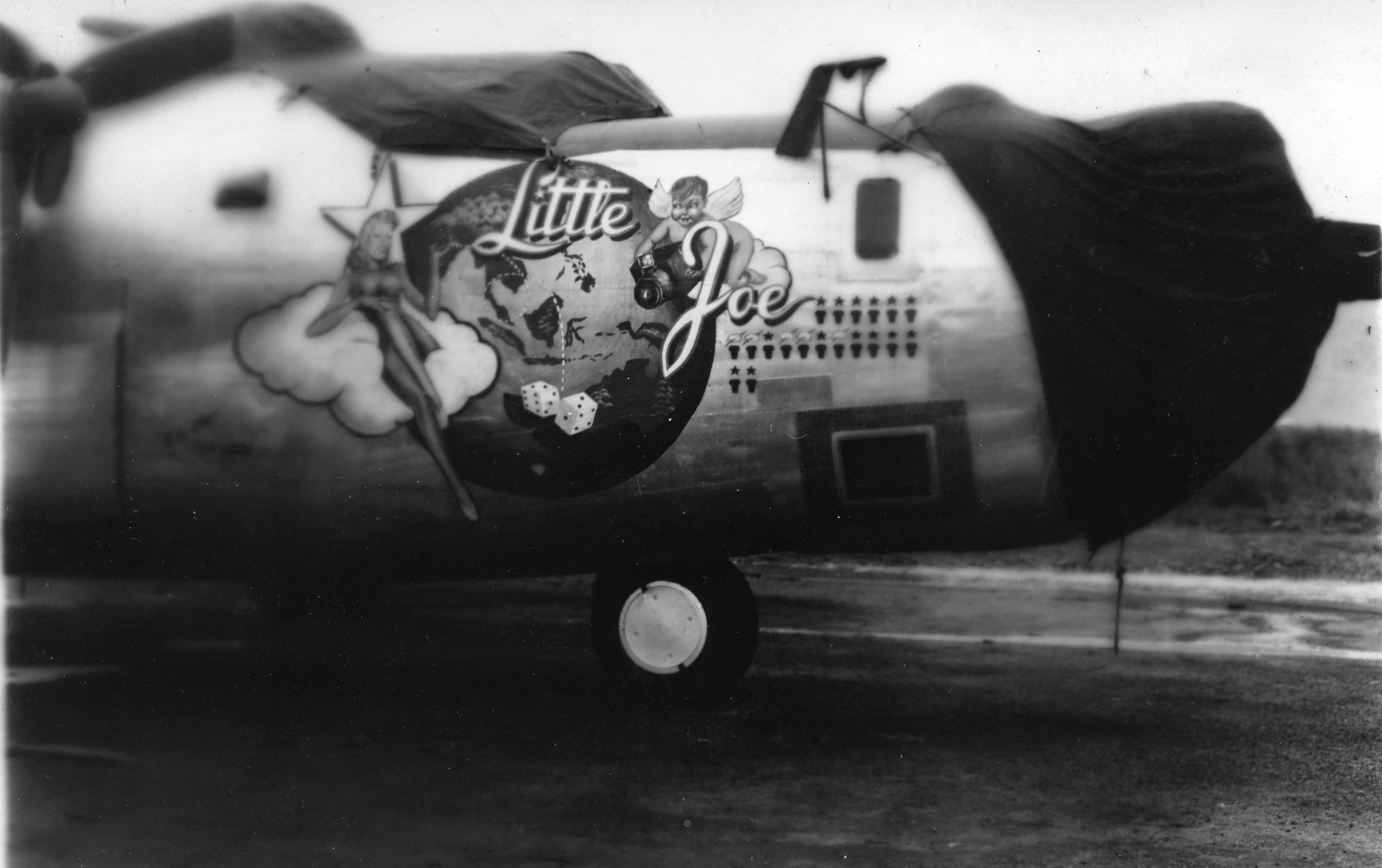 Little Joe : B-24 : 6th Photographic Group - Reconnaissance : 20th Combat Mapping Squadron : Serial #42-64054 : Sharpe 22 (Thomas Sharpe Collection)